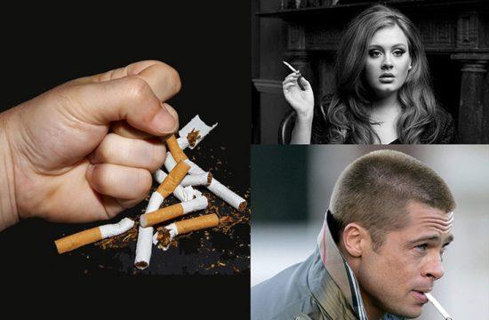 кто из звезд отказался от никотина