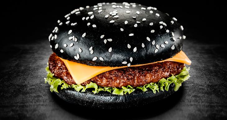 чёрный гамбургер