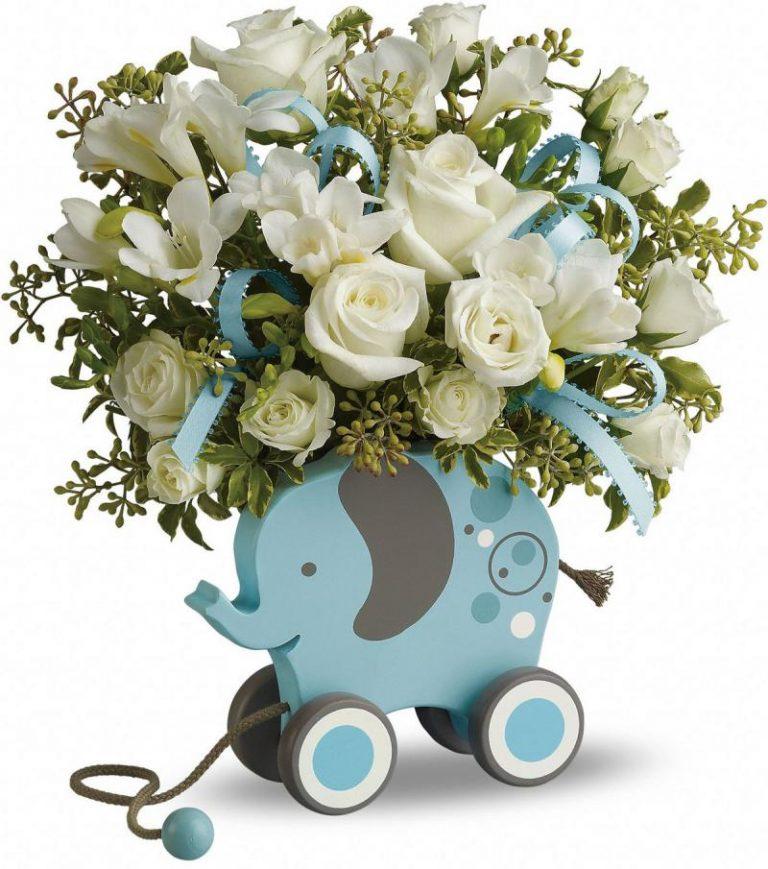 Какие цветы дарят на рождение ребенка, цветов