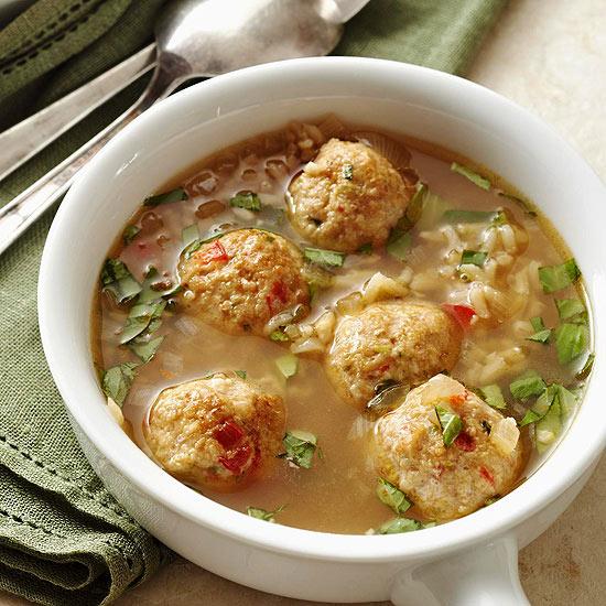 Суп из фрикаделек и риса