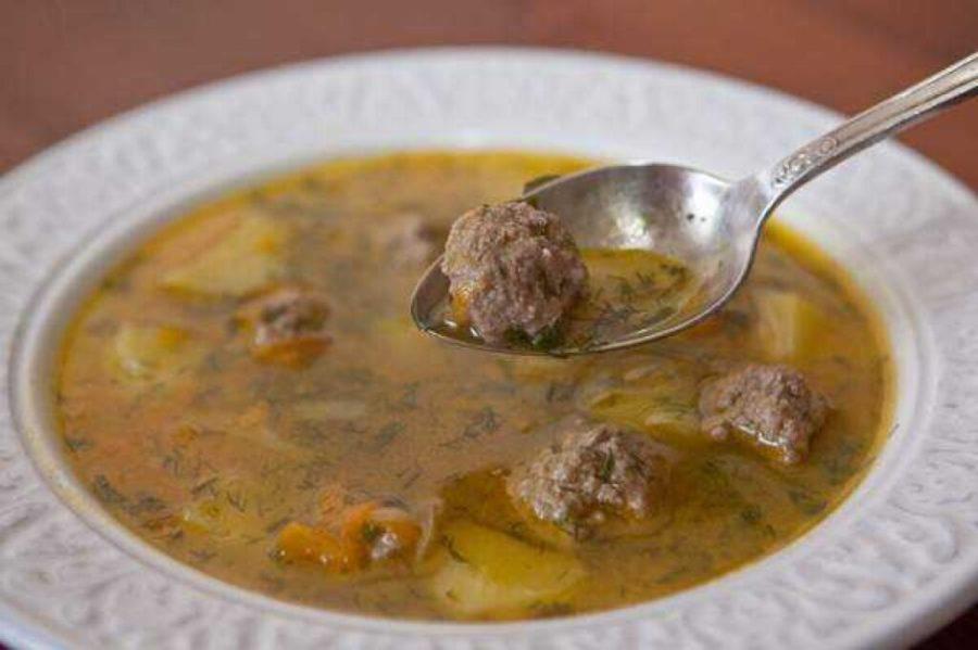 Суп с фрикадельками из говяжьего фарша