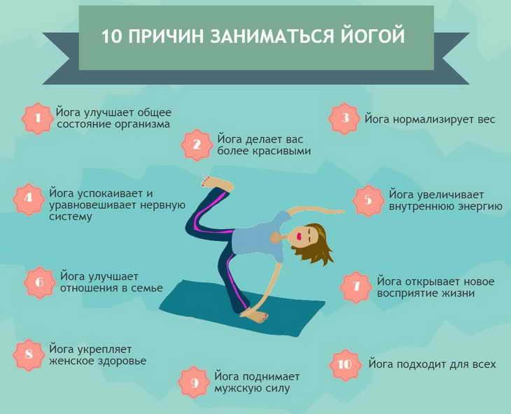 10 причин заниматься йогой йога