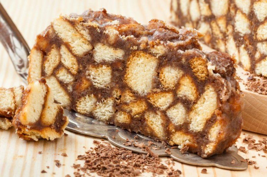торт со сгущенкой из печенья