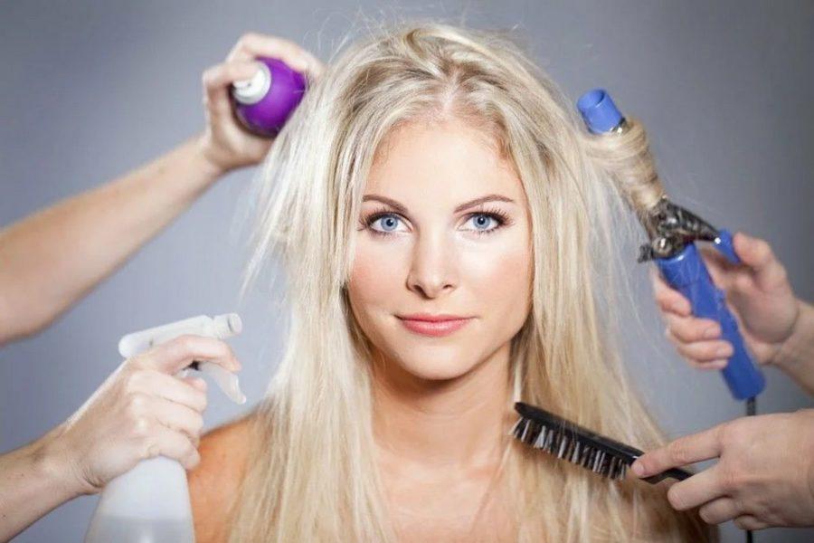 причины повреждения волос